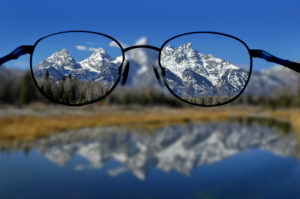 Visual acuity is how sharp or clear your vision is.