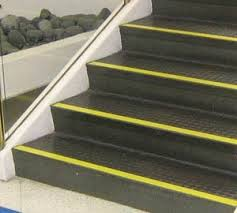 Good contrast on stair edges are important for balance & fall prevention