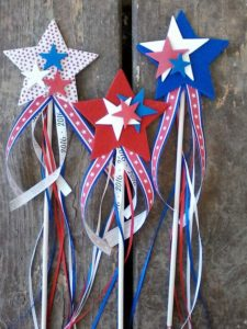4th of July Stars and Ribbons